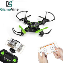 Gizmovine Mini Drone Rc Quadcopter With Cameras FPV WiFi Phone Control and Remote Control Support One Key to Return Collapsible(China)