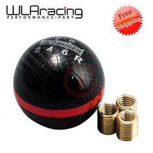 FR shipping- Carbon Fiber MUGEN Gear Shift Knob 6 Speed Manual Automatic Spherical 6 S Shift Knob For Honda Acura/TOYOTA/NISSAN