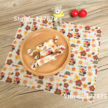 200pcs/lot Floral pattern Wax Paper, Food Wrapping Paper, Greaseproof Baking Paper, Soap Packaging Paper 22*25cm