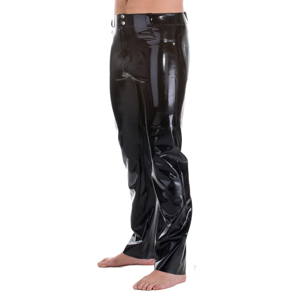 Latex Rubber Rubber Jeans With Front & Back a Pockets