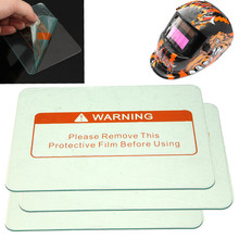 3pcs Clear Spare Welding Shield Cover Lens protect Plate 4.5'' x 3.5'' For Welding Helmet Mask