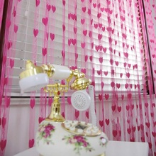 200X100CM Window Room Divider Curtain Cute Heart Line Tassel String Door Curtain Wholesale Price Top Quality Apr21