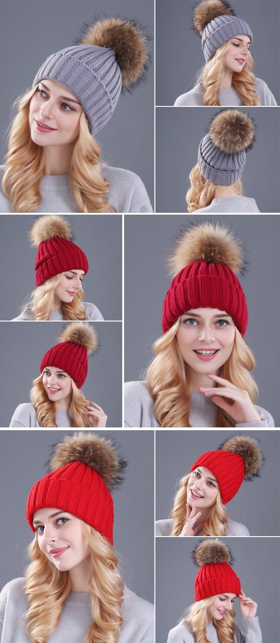 قبعات صوفية  بالوان مختلفة 8