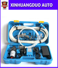 1set  12v 80w  Portable high pressure car washers  with high pressure car water pump 12v dual purpose Blue box