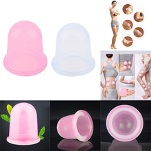 Chinese Vacuum Cupping Silicone Cups Body Massage Anti Cellulite Vacuum Cupping Therapy Full Body Relaxation Massager Health(China)