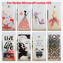 Luxury Crystal Diamond 3D Bling Hard Plastic Cover Case For nokia microsoft lumia 430 Case Cell Phone Cover