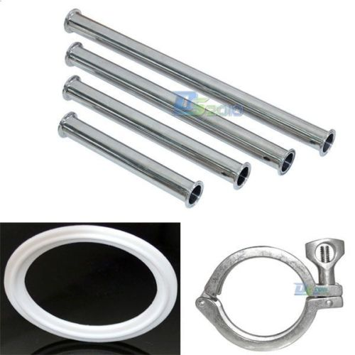 1 25MM Sanitary Spool Tube W/ 50.5MM Ferrule Flange+PTFE Gasket+Tri Clamp Set<br><br>Aliexpress