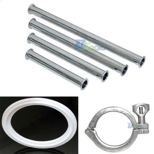 3/4 19MM Sanitary Spool Tube W/ 50.5MM Ferrule Flange+PTFE Gasket+Tri Clamp Set<br><br>Aliexpress