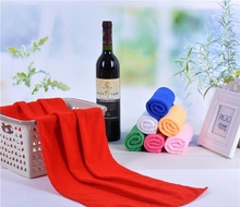 cheap 30*70cm microfiber high absorbent dry hair towel solid color hair salon towels quick dry microfiber hair towels