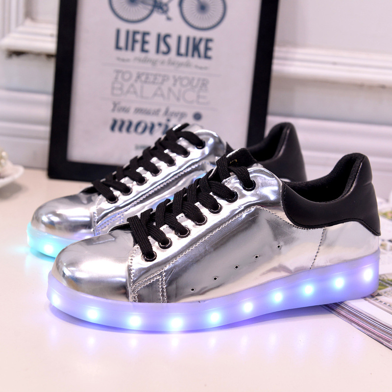 17 Baby Girls Boys LED Light Sneakers Colorful USB Charging for Kids Flashing Casual Flat students children Luminous Shoes 11