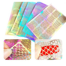 3 Sheets/lot Nail Art Transfer Stickers Hollow Out 3D Design Manicure Tips Decal Decoration Tool pro make up Tools