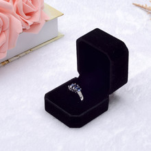 Fashion Velvet Engagement Wedding Earring Ring Pendant Jewelry Display Box Gift Wedding Ring Valentine's Day Gift Organizer(China)