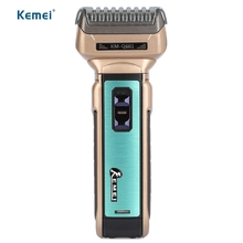 Hot Kemei Portable Electric Shaver EU Plug with Hair Cutter Twin Blades Multi-function Travel Use Safe Razor for Men KM-Q601(China)