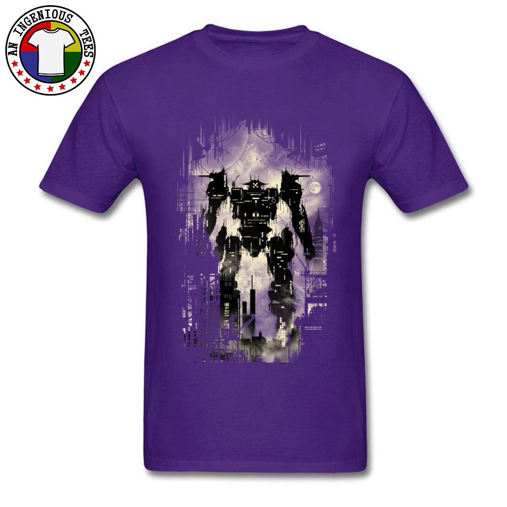 The Builder Printed On Tops T Shirt Short Sleeve for Men Pure Cotton Summer/Autumn Crew Neck T Shirt Design Sweatshirts Funny The Builder purple