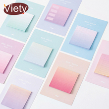 1 X Rainbow Northern Europe memo pad paper sticky notes notepad post it stationery papeleria school supplies material escolar(China)