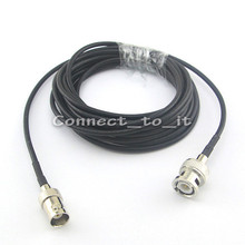 Extension cable BNC male to female connector plug to Jack adapter Video Power Cable for cctv System  RG174 3M