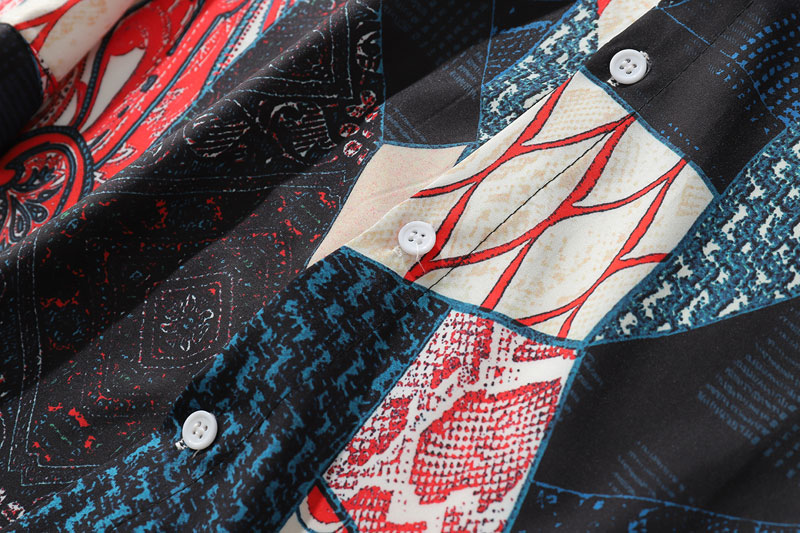 Ukiyo E Geometry Patchwork Shirts 2