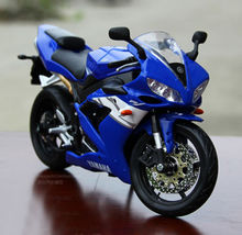 MAISTO 1/12 Scale Diecast Model Blue YAMAHA YZF-R1 Motorcycle Racing Moto Collections