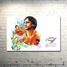 Johan Cruyff Football Legend Art Silk Poster Print 13x20 24x36 inch Netherlands Soccer Star Pictures for Living Room Decor 011
