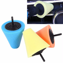 1PCS 80mm Sponge Cone Metal Polishing Foam Electric Drill Auto Pad Wool Buffing Polishing Ball Wheel Hub Care Buffing Tool