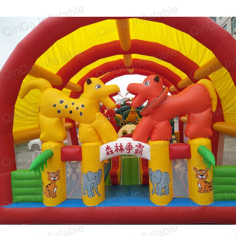 inflatable bouncer slide fun city castle(29)