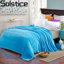 Winter Soft Flannel solid color Blanket  Warm casual cover blanket Single double bed flat Bed sheet air/sofa/bedding 200*230cm