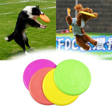 Pets Toy Dog Flying Disc Soft Silicone Rubber Frisbee Pet Tooth Resistant Fetch Toys Dogs Training Play Toy 2017(Random Color)