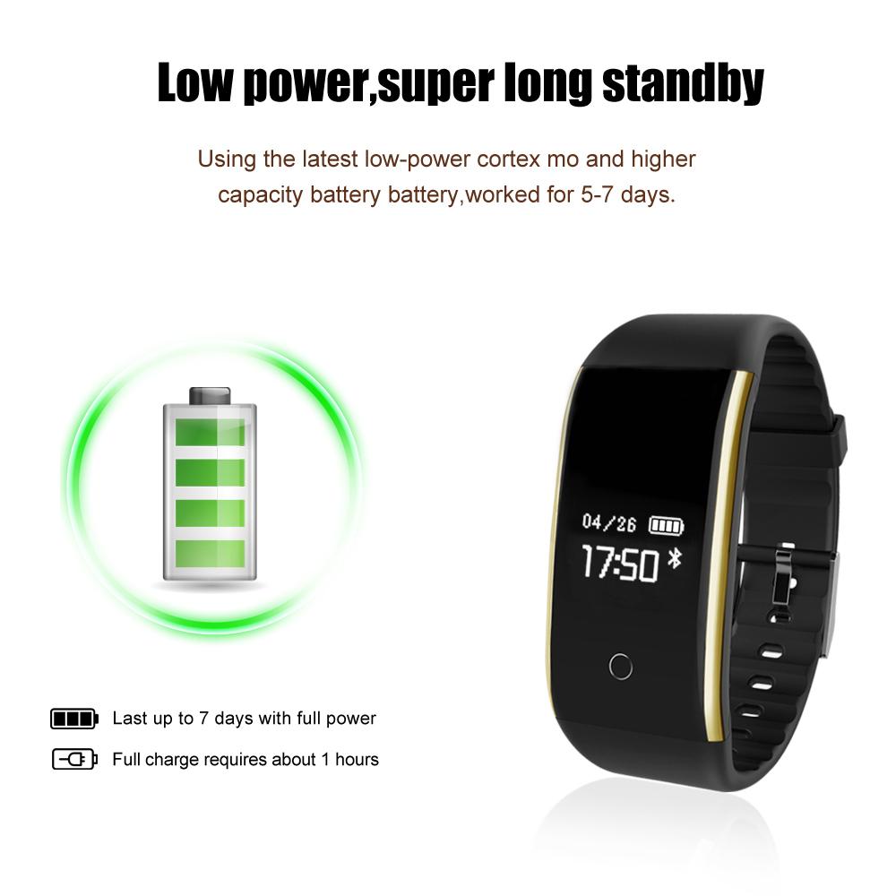 Waterproof Android Pedometer + Blood Pressure & Heart Rate Monitor Wrist Watch 20