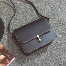 Buy Free shipping, 2018 new women handbags, fashion solid color flap, retro Korean version shoulder bag, trend woman messenger bag. for $7.42 in AliExpress store
