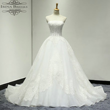 vestido de novia 2017 Off Shoulder Lace Appliqued Beads Wedding Dress Patterns