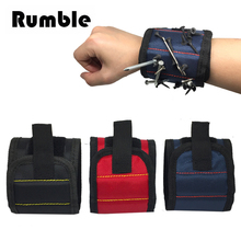 1pcs Nylon Strong Magnets Magnetic Wristband Pocket Tool Belt Pouch Wrist Bag Screws Drill Bit Holder Holding Hand Repair Tools