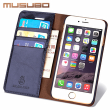 Musubo Leather Phone Case Cover For iPhone 5 5s SE Luxury Card Holder Wallet Flip Cases for iphone 7 plus 6s Plus 6 4 4s coque