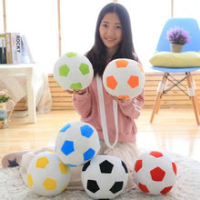 Wholesale Cartoon colorful football plush toys stuffed plush ball pillow Soft Cushion boy doll birthday gift