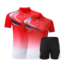 Adsmoney badminton shirt short Jersey polo sport Uniforms kits women men tennis training jerseys 3 colors(China)
