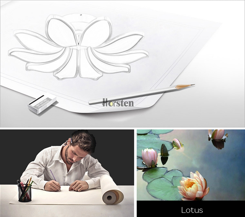 Horsten Simple Flower Acrylic LED Ceiling Light Modern Creative Lotus Ceiling Lamp For Living Room Bedroom With Remote Controller (2)