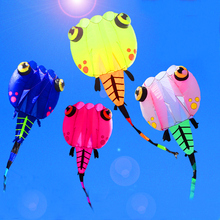 2017 new design free shipping high quality 8square meters tadpole kite soft kites ripstop nylon fabric kite reel outdoor toys