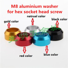 10pcs m8 aluminium alloy anodized color car model crown washer / gasket / shim ( please note which color you need)(China)