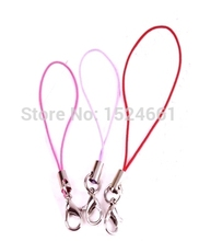 100 PCs Mixed Cell Phone Lanyard Strap 7cm Cords W/Lobster Clasp **  Crimps Beads Ball Chain  Cord Crimp End Caps