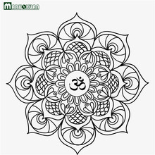 Maruoxuan 2017 New Indian Buddhist Art Decoration Decals Mandala Living Room Bedroom Home Stickers PVC Wall Stickers 57*57CM