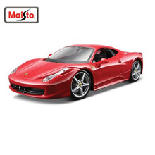 Maisto 1:24 458 ITALIA Assembly DIY Diecast Model Car Toy New In Box Free Shipping