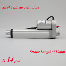 14pcs/lot 12V DC Motor 350mm Stroke Linear Actuators 1500N/150KG 330lbs Max Lift Waterproof DC Motor for Electric Bed