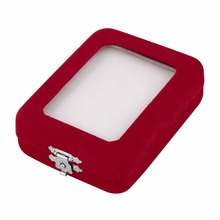 Beautiful and Exquisite Designed Red Velvet Package Box For Jewelry Case Gift Rings Earrings Display Newest