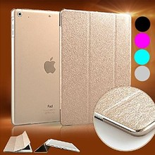 New Luxury Supper Silk Slip Auto Sleep/Wake Up PU Leather Full Body Case for iPad 2 3 4