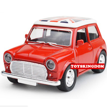 Classic 1:38 scale Lovely mini diecast Vintage cars mini coopers Beetle Chevrolets pull back alloy toys collection for kids(China)
