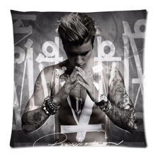 Justin Bieber Purpose Throw Pillow Cases Justin Bieber Shirtless Purpose Album Cover Cushion Covers Cool Justin Biber Case Gift(China)