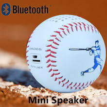 Mini Bluetooth Speaker Baseball Size Micro USB Line in music audio player 600mAh battery portable way TF card Roly poly design