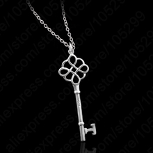 JEXXI Wholesale Jewelry !! Free Shipping Kingdom Accessories 925 Sterling Silver  Key Pendant Necklaces,
