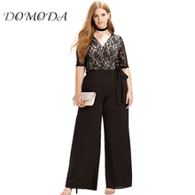 Buy DOMODA Plus Size Fashion Women Clothing Casual Solid Sexy Lace Patchwork Pants Slim Big Size Wide Leg Pants 3XL 4XL 5XL 6XL for $20.32 in AliExpress store