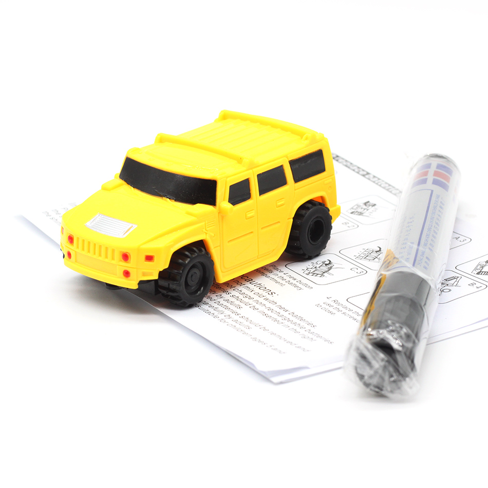 New Free Delivery Magic Pen Inductive Car Truck Follow Any Drawn Black Line Track Mini Toy Engineering Vehicles Educational Toy 8