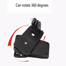 360 Degree Rotary Backpack Clip Clamp Mount for GoPro Hero 5 3 4 Session SJCAM SJ4000 Yi 4K C30 H9 Accessories With Screw